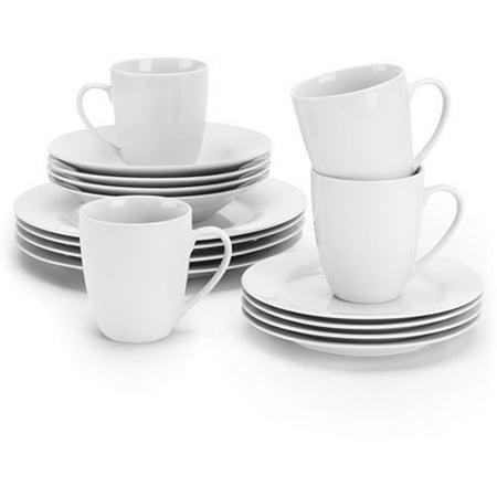 10 Strawberry Street Simply White Round 16-Piece Dinnerware Set