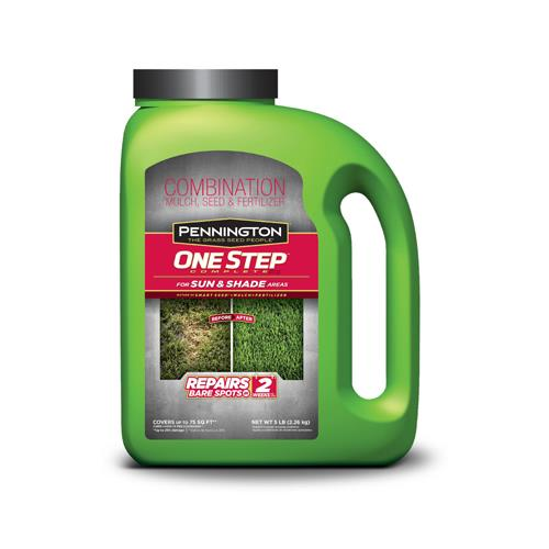 Pennington 100520281 One Step Complete Grass Seed Mix, Su...