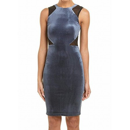 FRENCH CONNECTION Womens Blue Sleeveless Crew Neck Knee Length Shift Party Dress  Size: 2