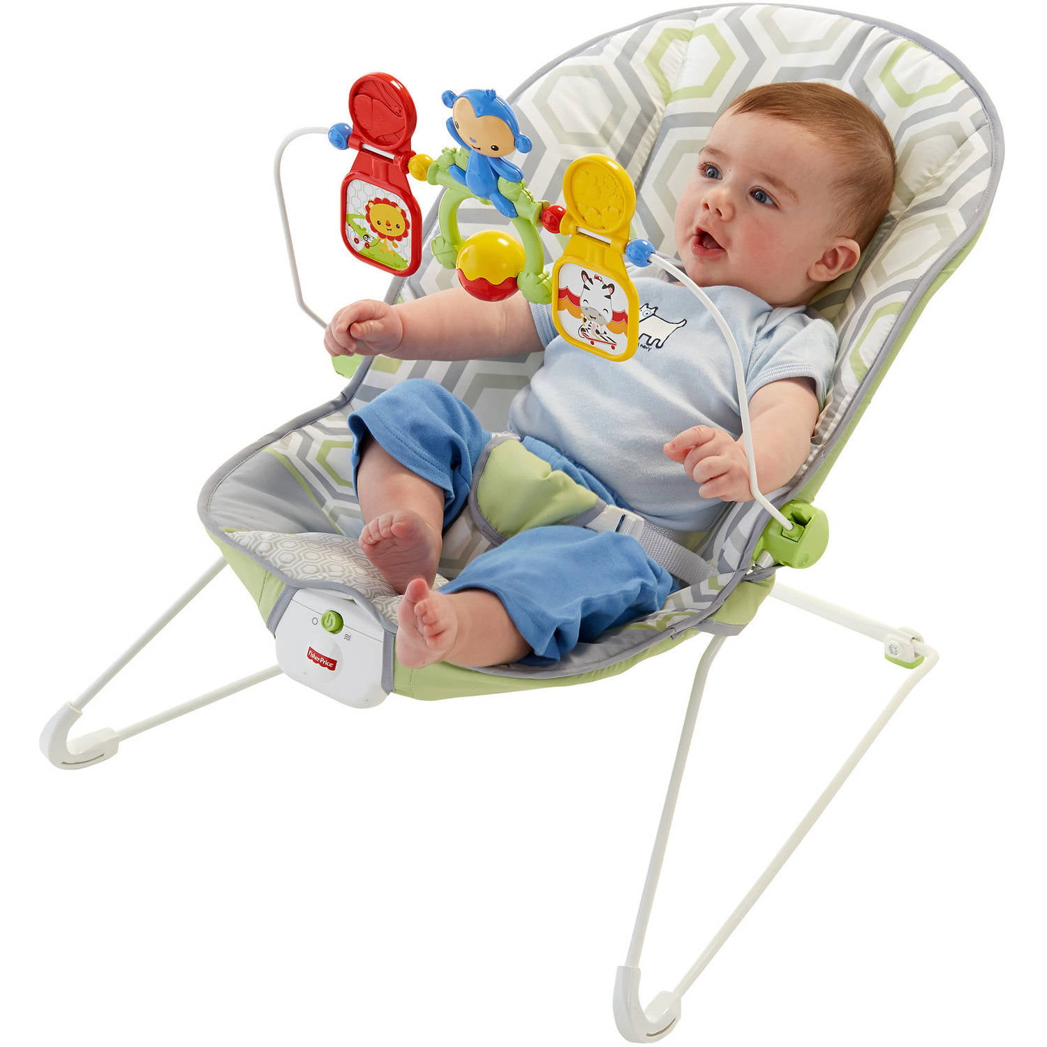 fe1a77d91acb Fisher-Price Baby s Bouncer with Removable Toy Bar
