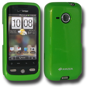 Premium Polished Green Snap On Hard Shell Case for HTC DROID Eris