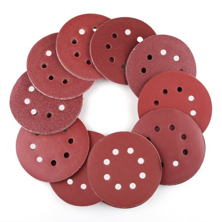 90 PCS 5 Inch 8-Hole Hook and Loop Sanding Discs 40/60/80/100/120/180/240/320/400/800 Grit Assorted Orbital Sander Sandpaper ()