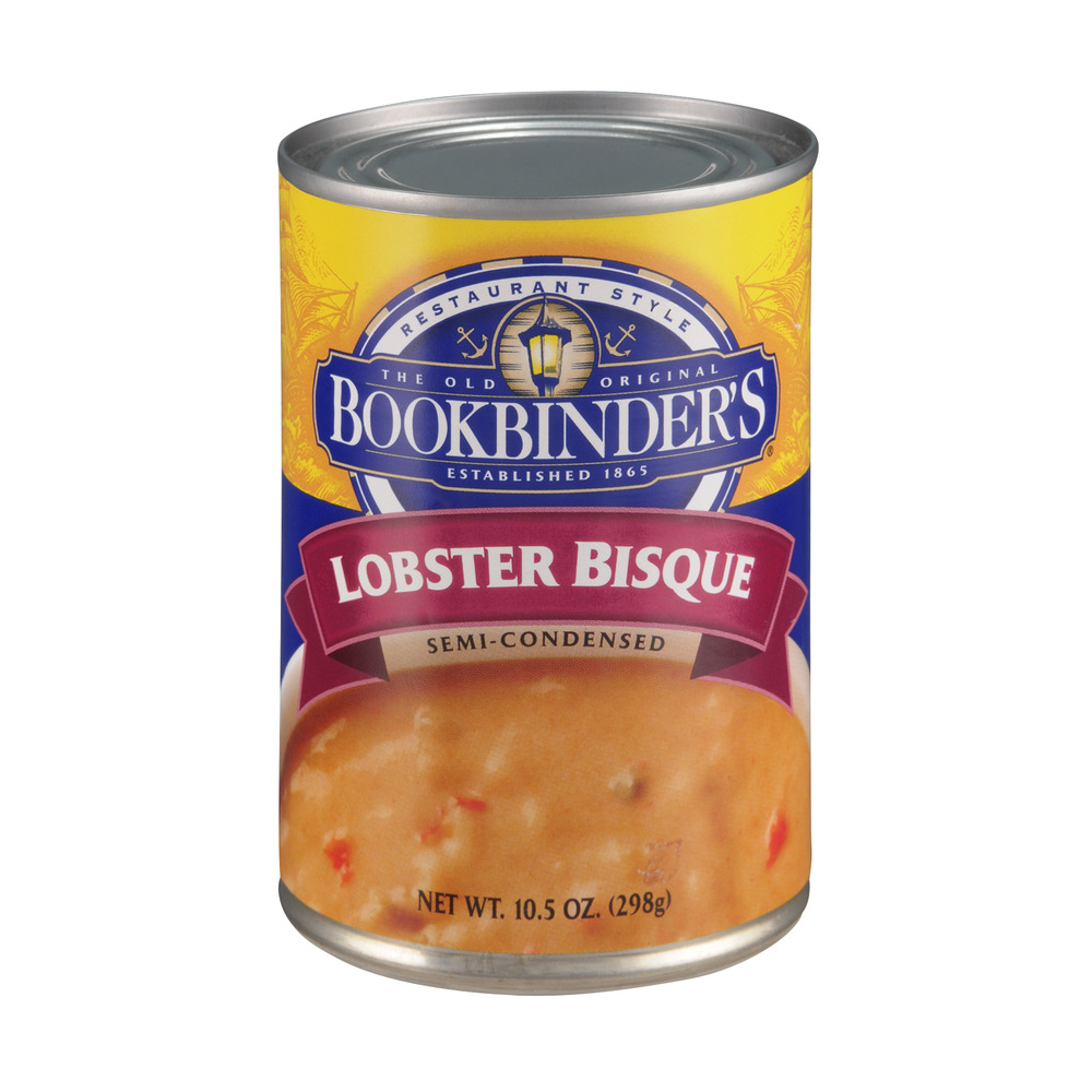 Bookbinder's Lobster Semi-Condensed Bisque Soup, 10.5 OZ by Silver Spring Gardens Inc.