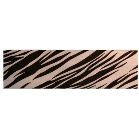Kenz Laurenz Cotton Headband Soft Stretch Headbands Sweat Absorbent Elastic Head Band Zebra White