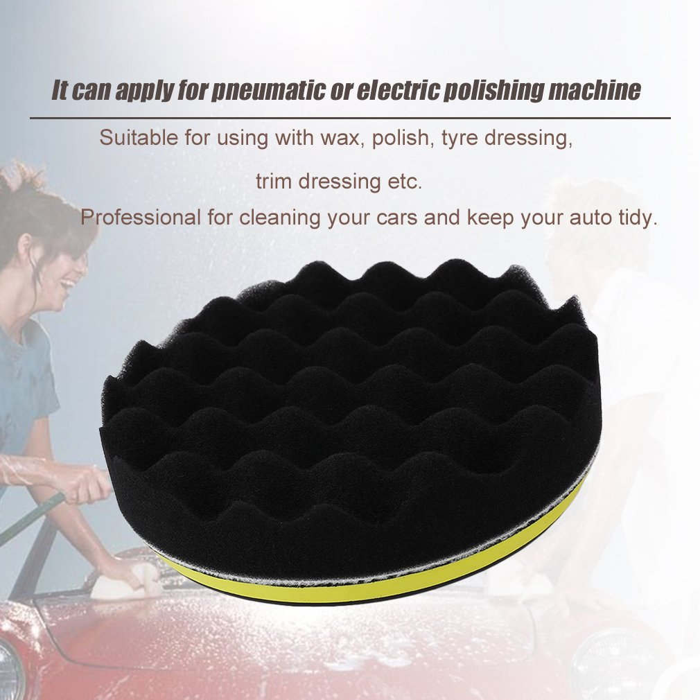 18 Pcs Car Buffing Polishing Sponge Pads Set Auto Clean Polisher Buffer
