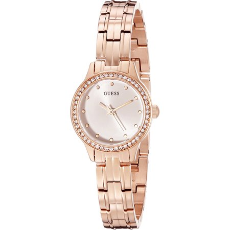 Guess Women's Watch Stainless Steel and Rose Gold-Tone with Crystal Accented Bezel