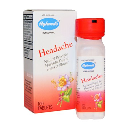 Image of Hylands Homeopathic Headache Tablets Natural Relief for Headache Due to Stress or Illness, 100 Ea, 3 Pack