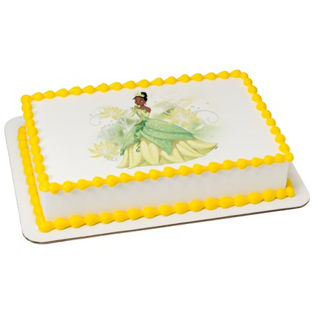 Disney Princess - Tiana Sparkle & Shine 1/4 Sheet Image Cake Topper Edible Birthday Party](Disney Princess Cake Kit)