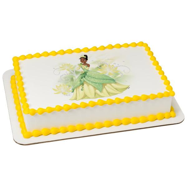 Disney Princess - Tiana Sparkle & Shine 1/4 Sheet Image Cake Topper Edible Birthday Party