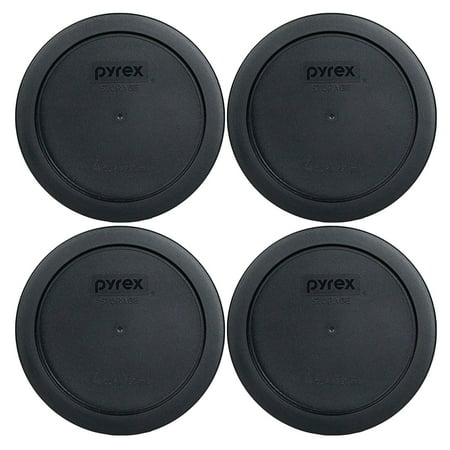7201-PC 4 Cup Round Storage Cover for Glass Bowls (4, Black), This Pyrex Lid will fit 5-3/4 Diameter Glass Bowls By Pyrex