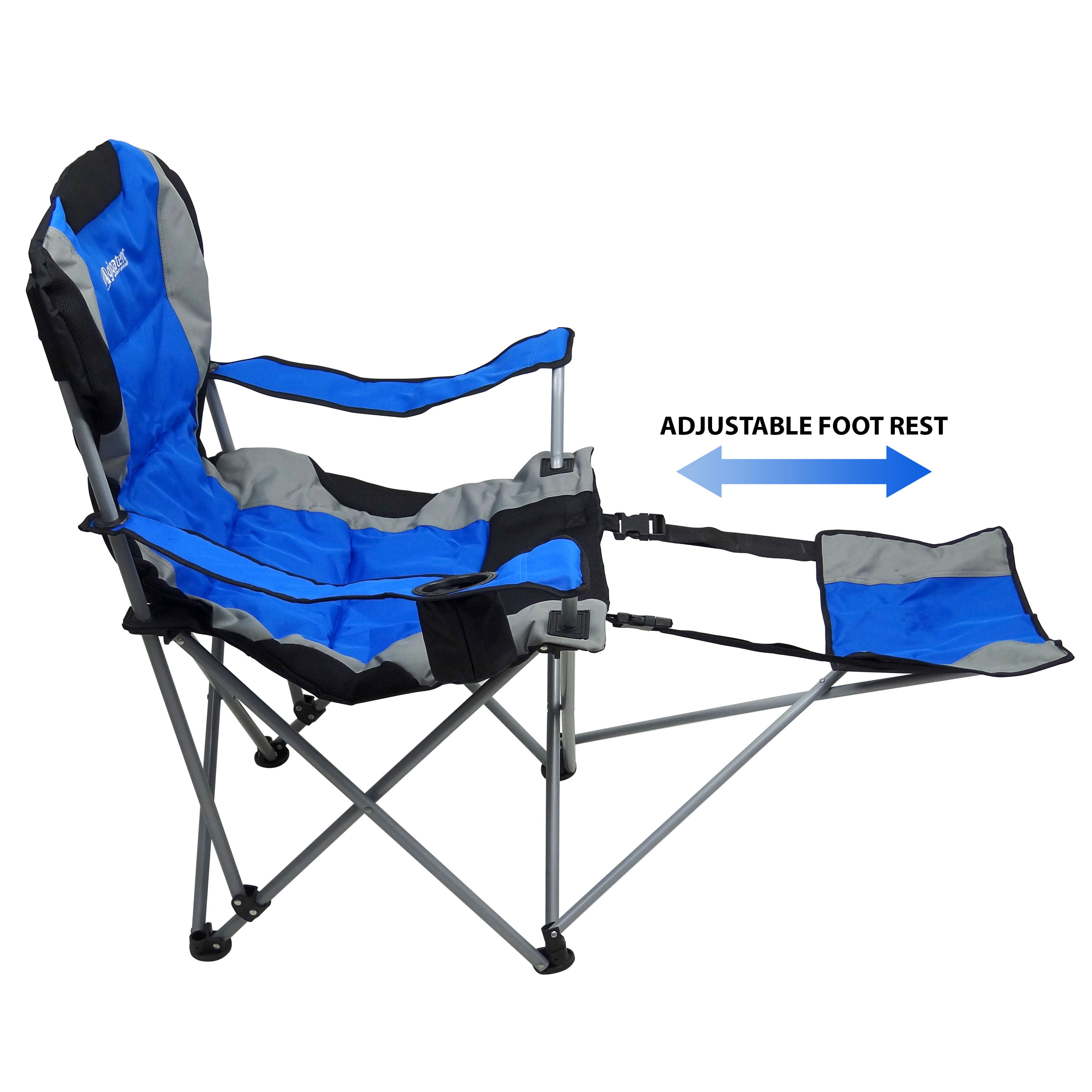 4ed456363a1 GigaTent Folding Camping Chair with Footrest - Walmart.com