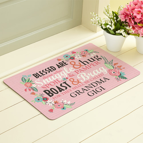 "Personalized Blessed Are Those Doormat, 17"" x 27"""