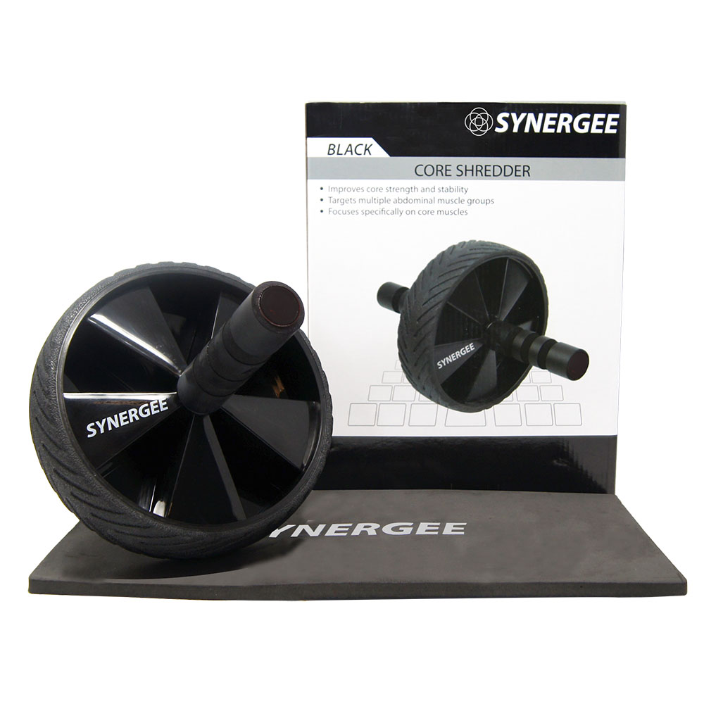 Synergee Core Ab Roller Wheel Includes Premium Knee Pad & Training Guide