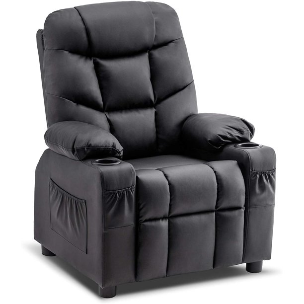Mcombo Big Kids Recliner Chair With Cup, Child Recliner Chair With Cup Holder