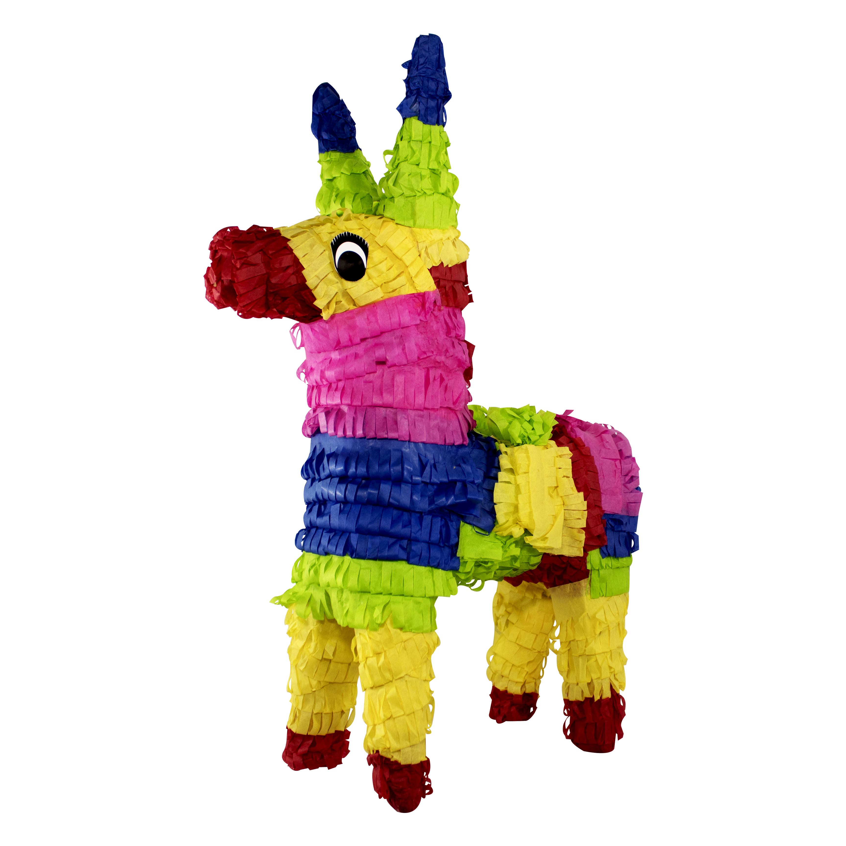 Multi-colored Donkey Party Pinata, Traditionally Handcrafted, 22in x 23in