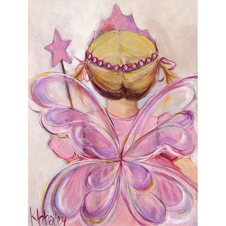 - Oopsy Daisy - Little Fairy Princess - Blonde Canvas Wall Art 24x30, Kristina Bass Bailey