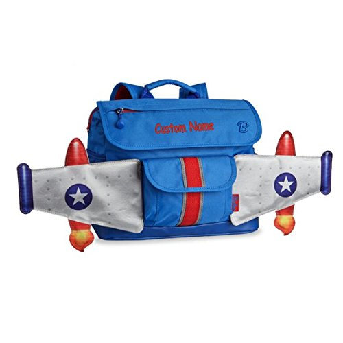 Personalized Bixbee Jet Flyer Airplane Backpack - Blue (Small)