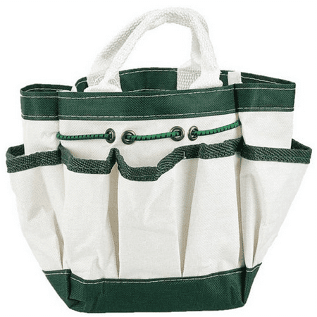 ToolUSA Canvas Garden Tote With 7 Pockets White 9