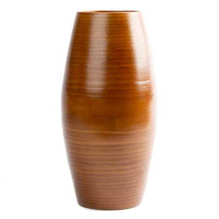 Brick Bloom Ava Medium Vase 12 Inch Spun Bamboo Walnut