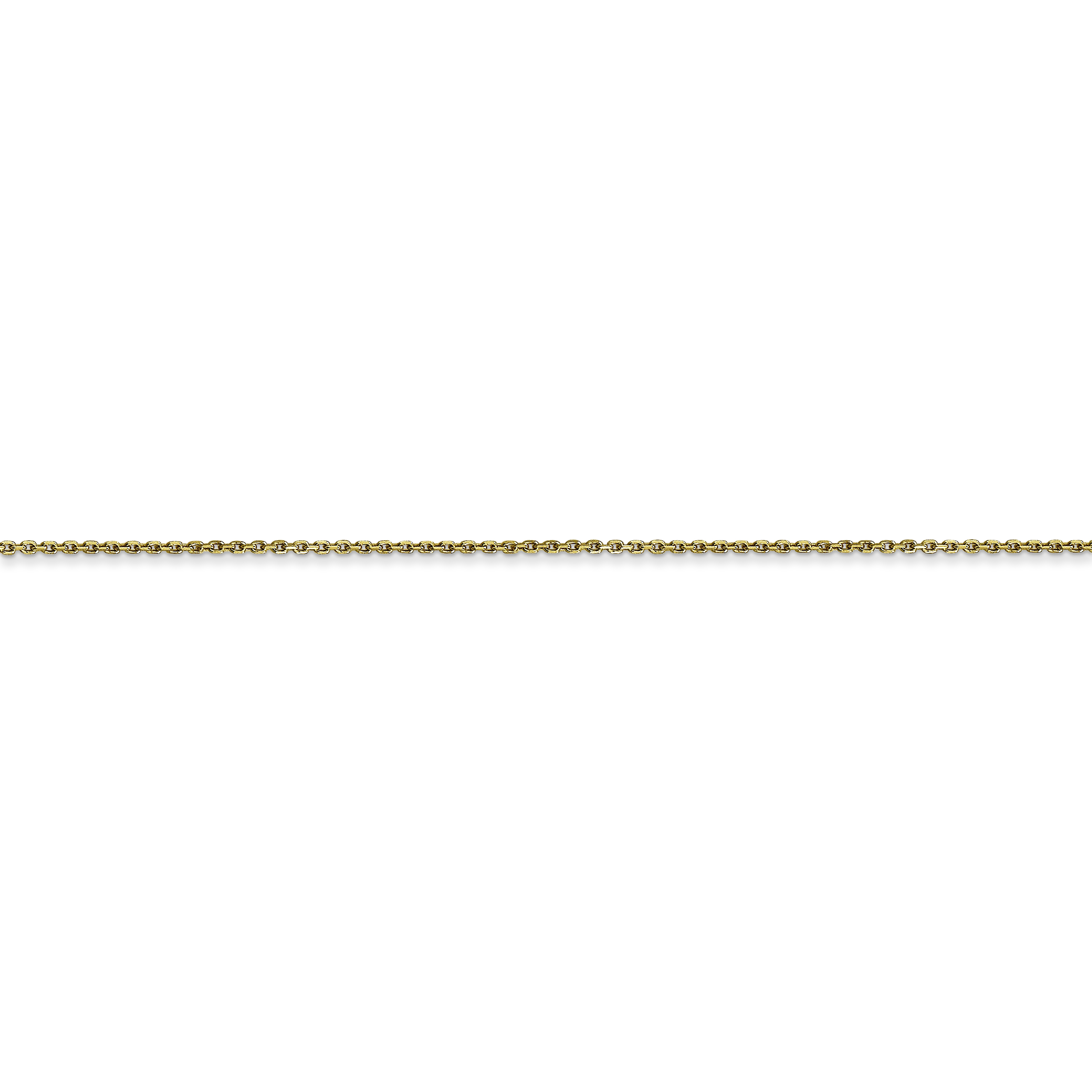 10K Yellow Gold .80mm Diamond Cut Cable Chain 20 Inch - image 1 of 5