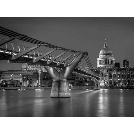 The Millennium bridge and St Pauls cathedral in London UK Poster Print by  Assaf
