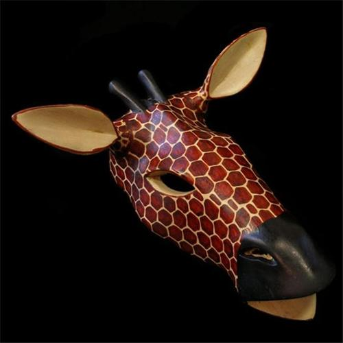Gifts with Humanity KWC011SD-Grf-133005 Handcarved African Giraffe Mask