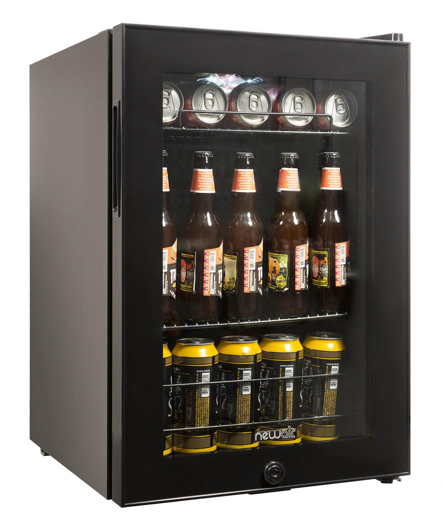 Newair Ab 850b Beverage Cooler And Refrigerator Small Mini Fridge With Glass Door Black Walmart Com Walmart Com