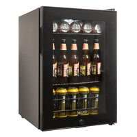 NewAir AB-850B Beverage Cooler and Refrigerator, Small Mini Fridge with Glass Door, Black