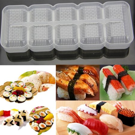 Stretchrite Non Roll (Sushi Mold Rice Ball 5 Rolls Maker Non Stick Press Bento Tool)