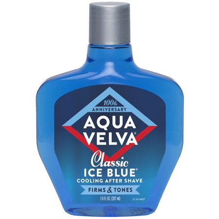 Aqua Velva After Shave, Classic Ice Blue Scent that Cools, Firms and Tones Skin, 7 Fluid Ounce Bottle