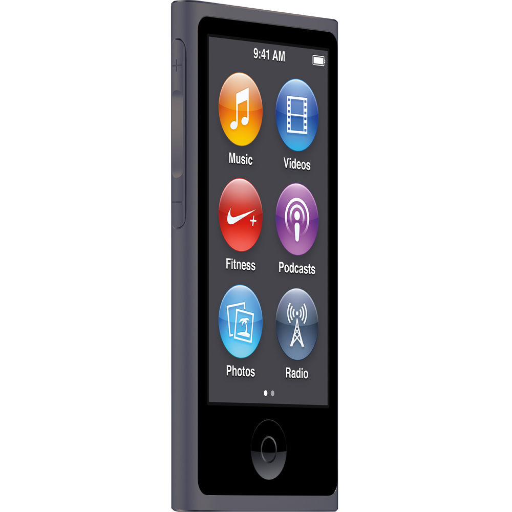 Apple iPod Nano 7th Generation 16GB Space Gray Bundle (Latest Model) New in Retail Packaging  MKN52LL/A-Open Box