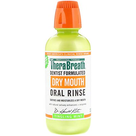 Thera Breath Dry Mouth Oral Rinse Tingling Mint 16 Oz - image 1 de 1