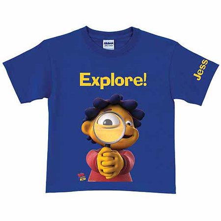 Personalized Sid the Science Kid Explore Toddler Boy T-Shirt, Royal Blue