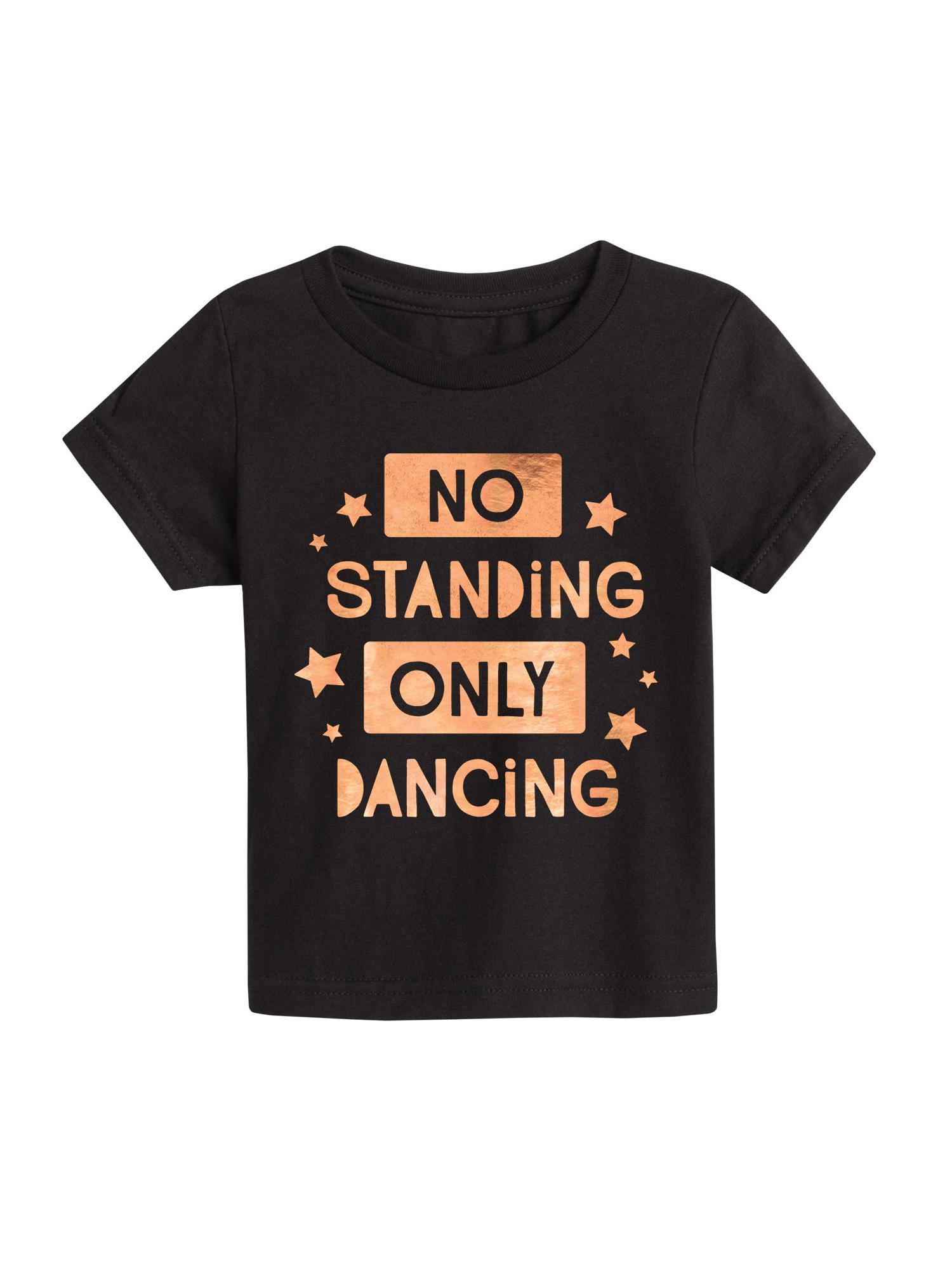 Only Dancing Rose Gold Foil  - Toddler Short Sleeve Tee