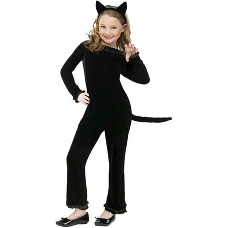 Playful Kitty Child Halloween Costume - Kitty Face Halloween Makeup