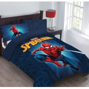 Marvel Spiderman Friendly Neighborhood Comforter Set with Fitted Sheet