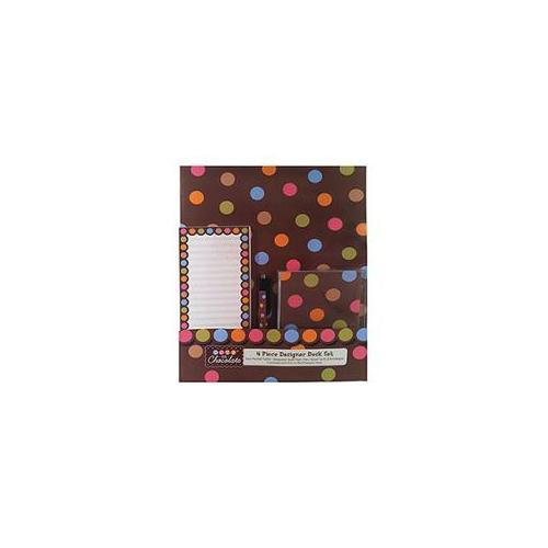 Creative Teaching Press CTP0442 Dots On Chocolate Designer Desk Set