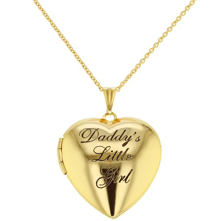 Childrens heart photo locket pendant necklace daddys little girl aloadofball Image collections
