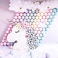 Pastel Balloons Unicorn 300pcs 5 Inches Mini Assorted Candy Color Macaron Latex Balloons Balloons Only for Unicorn Party Wedding Girls Birthday Baby Shower Decoration