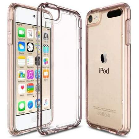 buy popular e53fe 188e8 iPod Touch 6th Generation Case,iPod Touch 7 Case, iPod 5 Case, ULAK Clear  Hybrid Flexible Soft TPU Case Shock Absorbing Hard Plastic Cover for iPod  ...