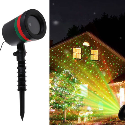 Christmas Projector Light Moving LED Laser Landscape Outdoor/Indoor Lawn Lamp for Halloween, Holiday, Party, Birthday Decoration