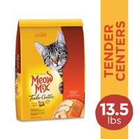 Meow Mix Tender Centers Salmon & White Meat Chicken Dry Cat Food, 13.5 Pounds
