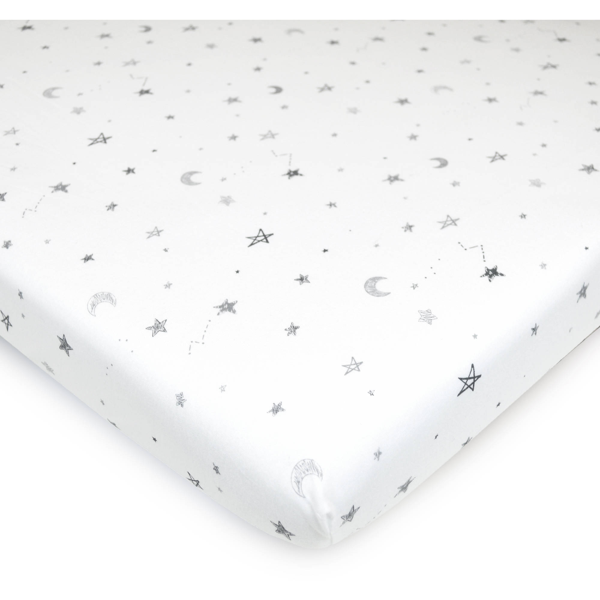 American Baby Company 100% Cotton Jersey Fitted Playard Sheet, Stars and Moon