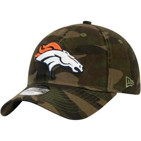 Denver Broncos New Era Youth Core Classic Woodland Camo 9TWENTY Adjustable Hat - Camo - OSFA thumbnail