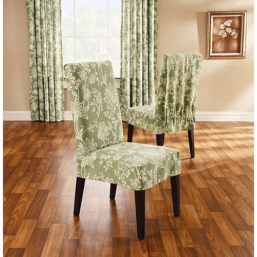 Verona Short Dining Room Chair Slipcover Sage Walmart Com