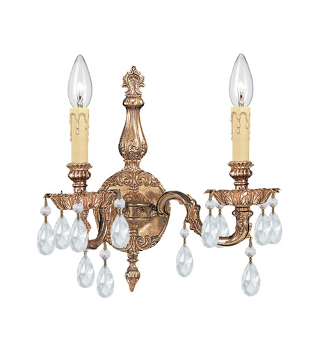 Crystorama 2502-OB-CL-S Two Light Sconces by Crystorama
