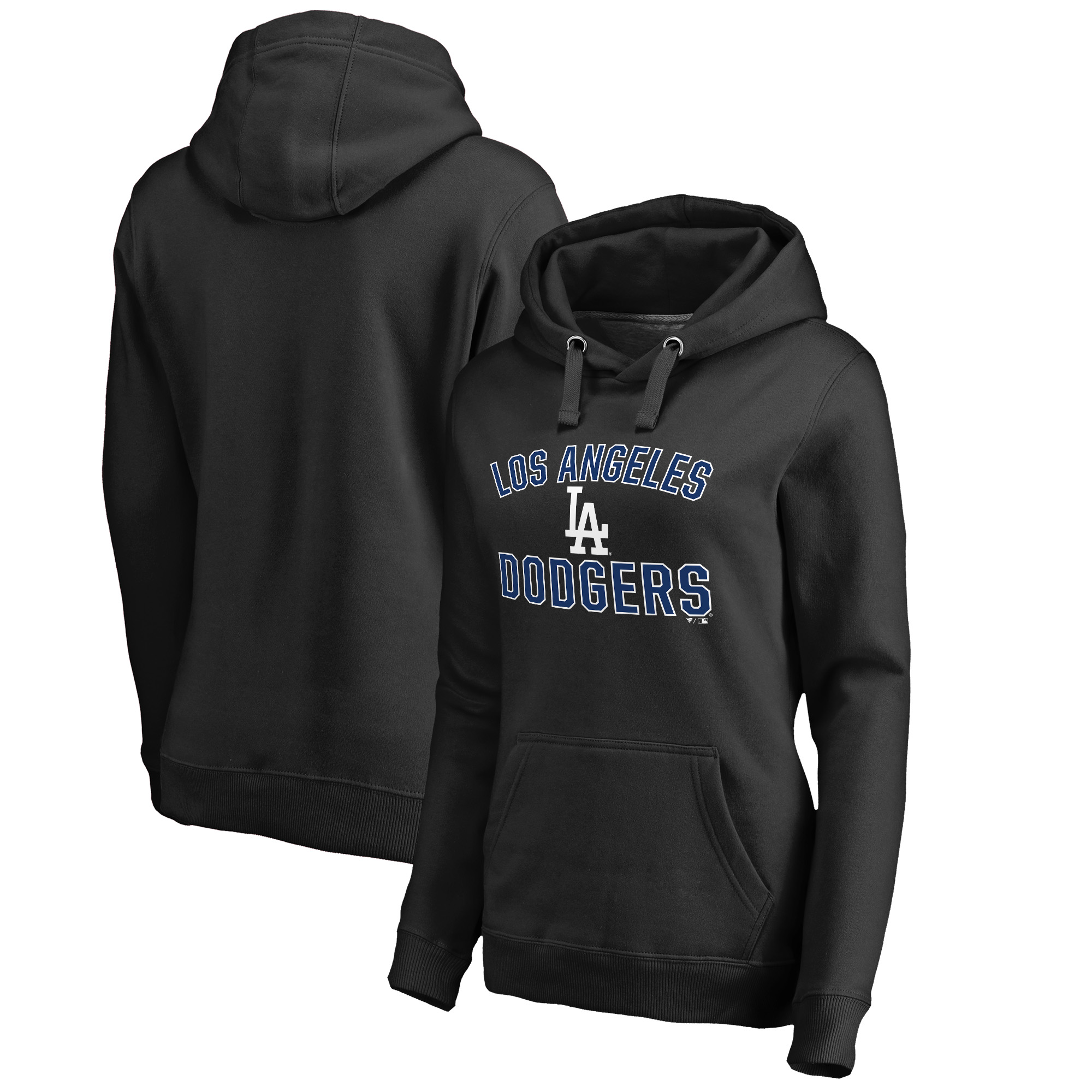 Los Angeles Dodgers Fanatics Branded Women's Team Victory Arch Pullover Hoodie - Black