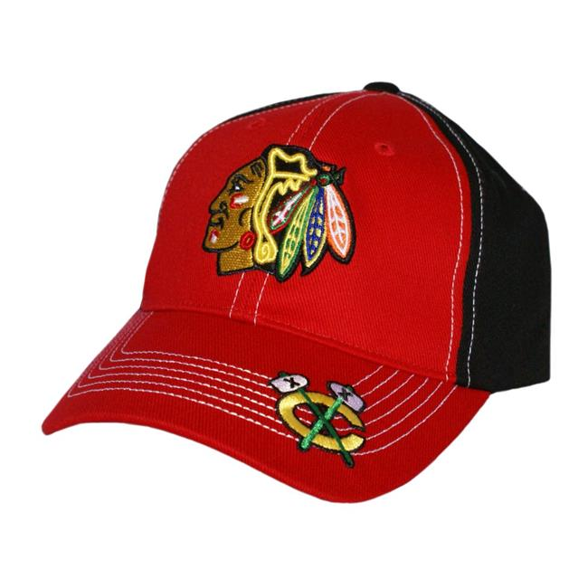 Fan Favorites H-MRLVR04HTV-BK NHL Revolver Chicago Blackhawks Cap - Black - One Size