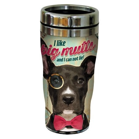 Tree Free Greetings 78186 Angi And Silas Big Mutts Sip N Go Stainless Lined Travel Mug  16 Ounce