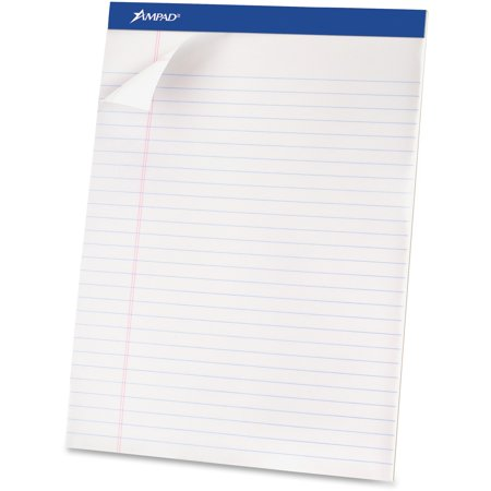 Esselte Ampad Basic Perforated Writing Pads, 12 pack